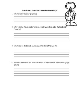 Blast Back -The American Revolution TDQ's with Answer Key