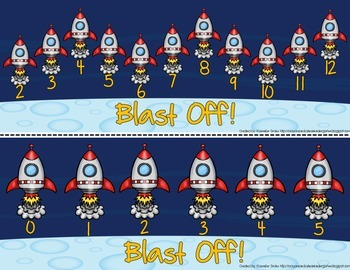Blast Off!  A 'Roll The Dice' Addition & Subtraction Game, Printables & More!