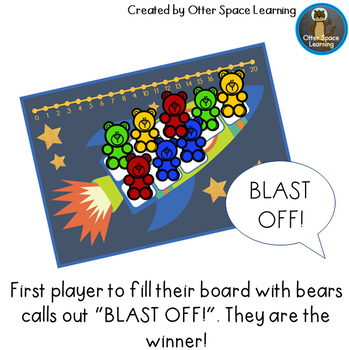 Blast Off Bears - Addition and Subtraction Game (Numbers 0 - 20)