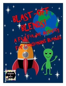 Blast Off Blends - A File Folder Activity For Consonant Blends