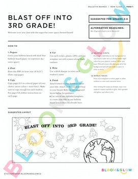 Blast Off Bulletin Board DIY Kit
