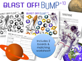 Blast Off Bump Game Add 10 +10 Addition Facts 13-22 Worksh