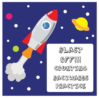 Blast Off! Counting Down Practise Sheets