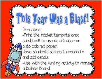 Blast Off! End of year activity