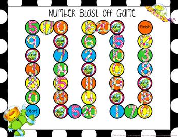 Blast Off Games for Preschool and Kindergarten