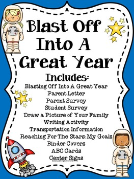 Blast Off Into A Great Year - Back To School Activities and Printables