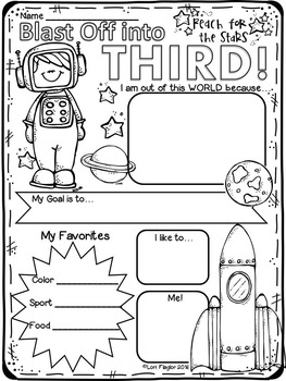 All About Me Poster- Space Theme