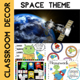 Classroom Decor Space Theme Bundle Back to School