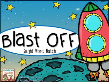 Blast Off Sight Word Match