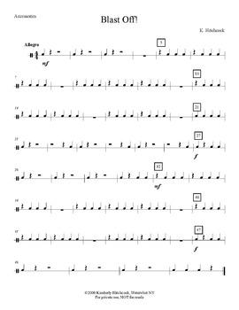 Blast Off! – Very Easy Beginning Band arrangement