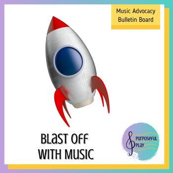 Blast Off With Music Bulletin Board Set