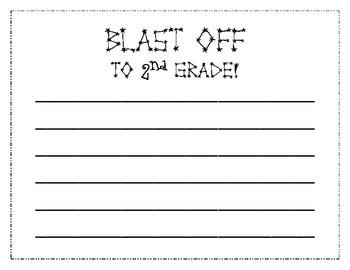 Blast Off to 2nd Grade Writing