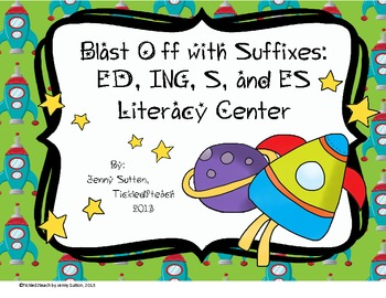 Blast Off with Suffixes Literacy Center