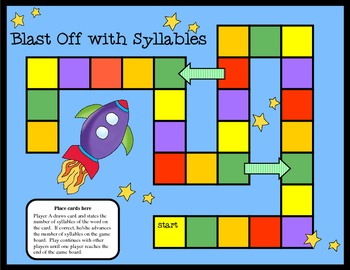 Blast Off with Syllables Activity