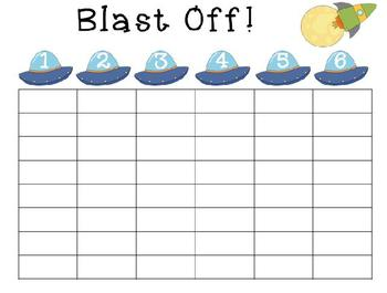 Blast off!!!  High Frequency Word (Sight Word) Game
