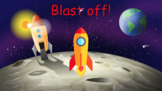 Blast off! PowerPoint Game - Great for distance learning