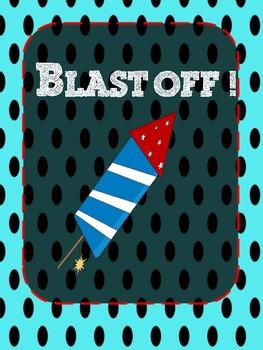 Blast off! Word Wall Word Activity