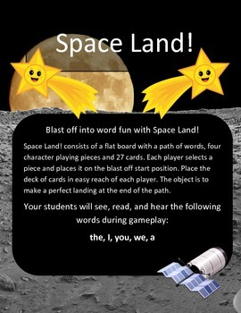 Blast off into word fun with Space Land!