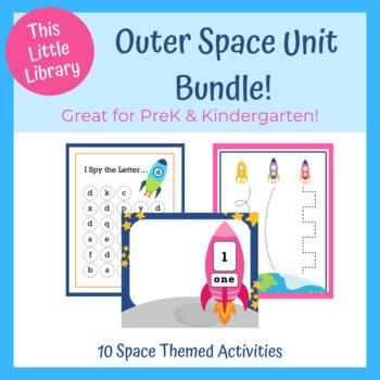 Blast off to Space! PreK & Kindergarten Unit - Math and Literacy Centers