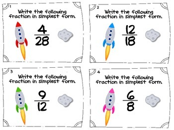 Blasting Off With Common Core: 5 Common Core Aligned Math Task Card Sets