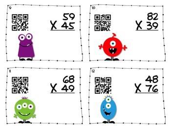 Blasting Off With QR Codes: 5 Common Core Aligned Math Task Card Sets