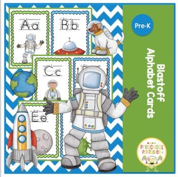 Blastoff Alphabet Cards
