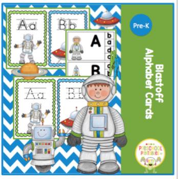 Blastoff Alphabet Cards 3 Sets