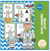 Blastoff Alphabet Cards 3 Sets