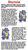 Blastoise Reading Comprehension