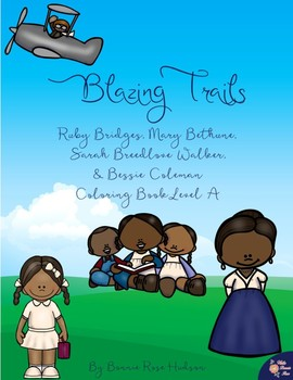 Blazing Trails Coloring Book—Level A