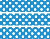 Blue polka Dot border