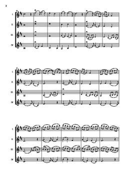 Bleak Midwinter- violin quartet for Christmas