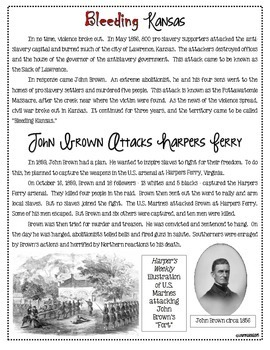 Bleeding Kansas, John Brown, Raid on Harpers Ferry