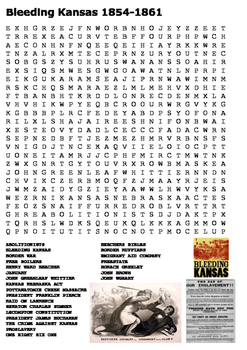 Bleeding Kansas Word Search