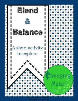 Blend & Balance Choir Activity