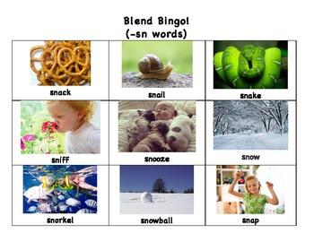 Blend Matching Game! (SN words)