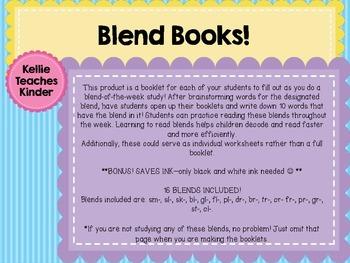 Blend Book/Worksheets!