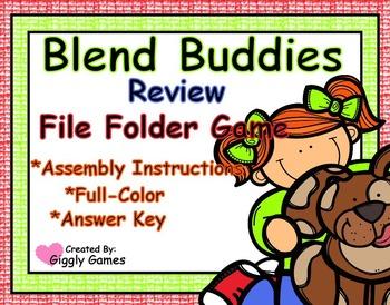 Blend Buddies Blends Review File Folder Game