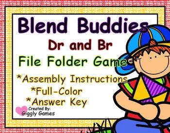 Blend Buddies Dr and Br Blends File Folder Game