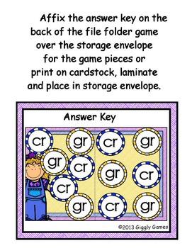 Blend Buddies Gr and Cr Blends File Folder Game