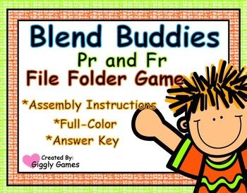 Blend Buddies Pr and Fr Blends File Folder Game