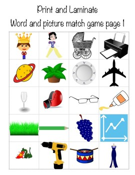 Blend/Digraph Picture Match
