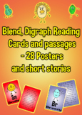 Blend, Digraph Reading Cards - 28 'Blendies' -  Posters and short stories