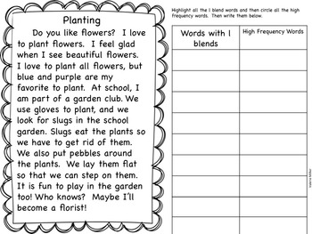 Blend Fluency Word Work Unit-Differentiated
