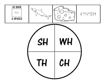 Digraph Game - WH SH TH CH