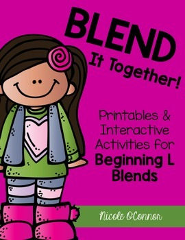 Blend It Together: Beginning L Blends Activities