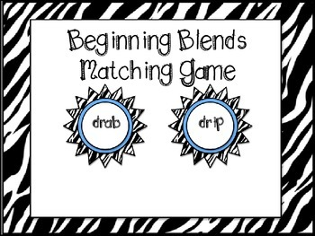 Beginning Blends Matching Game