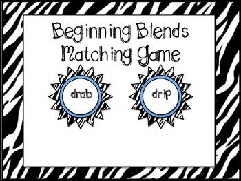Beginning Blends Matching Game