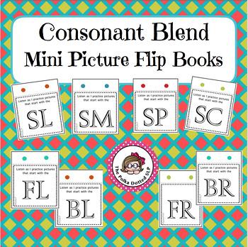 Consonant Blend Mini Picture Flip Books