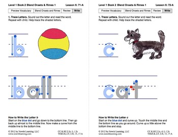 Blend Onsets and Rimes 1: Lesson 6, Book 2 (Newitt Prereading Series)